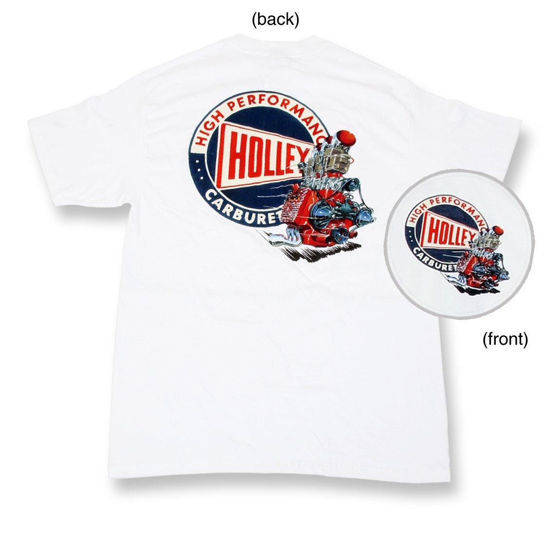 88b31ccb7 Holley 10012-XLHOL White Holley Flathead Retro T-shirt (X-Large)