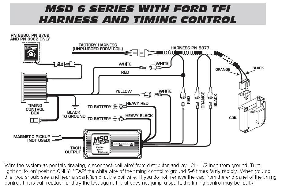 ford tfi ignition wiring diagram 6 series timing control tfi harness - msd blog 8n ford tractor ignition wiring diagram