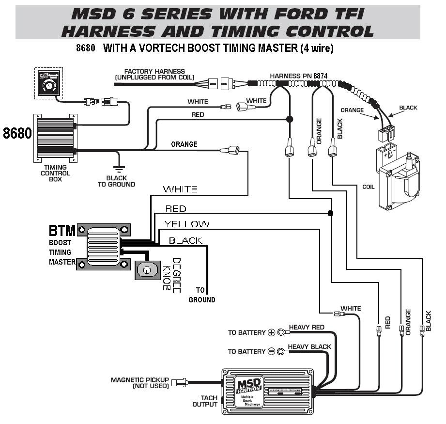 6 Series Timing Control Tfi Harness  86801 With A Vortech Btm