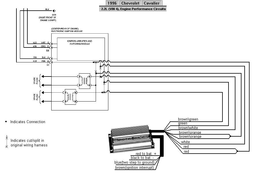 blog_diagrams_and_drawings_6_series_gm_96_che_cavalier_22l jpg  this diagram  illustrates how to install a dis-2 to a 1996 chevrolet cavalier