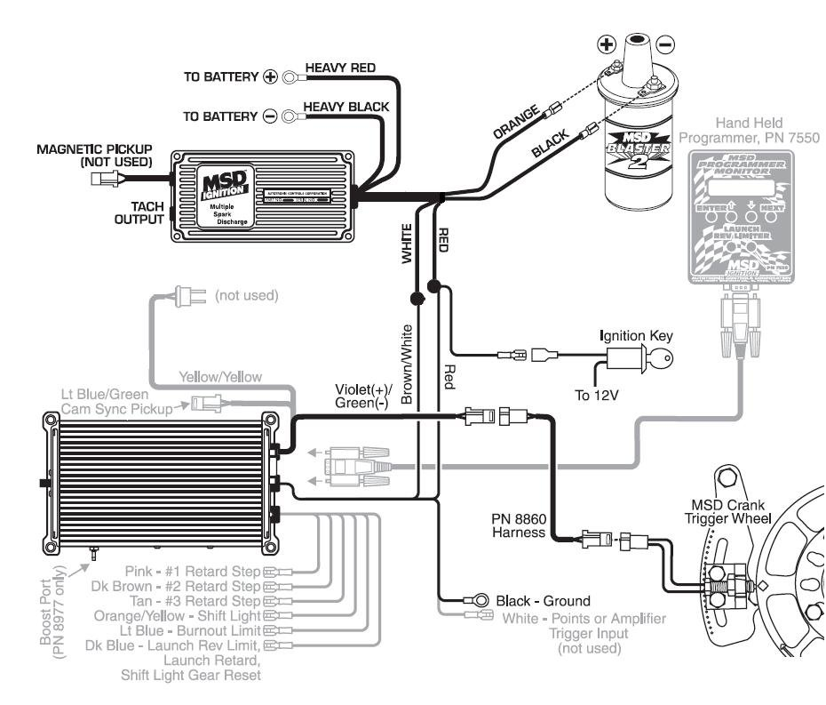 msd wiring diagram point trigger msd wiring diagram 65 mustang #5