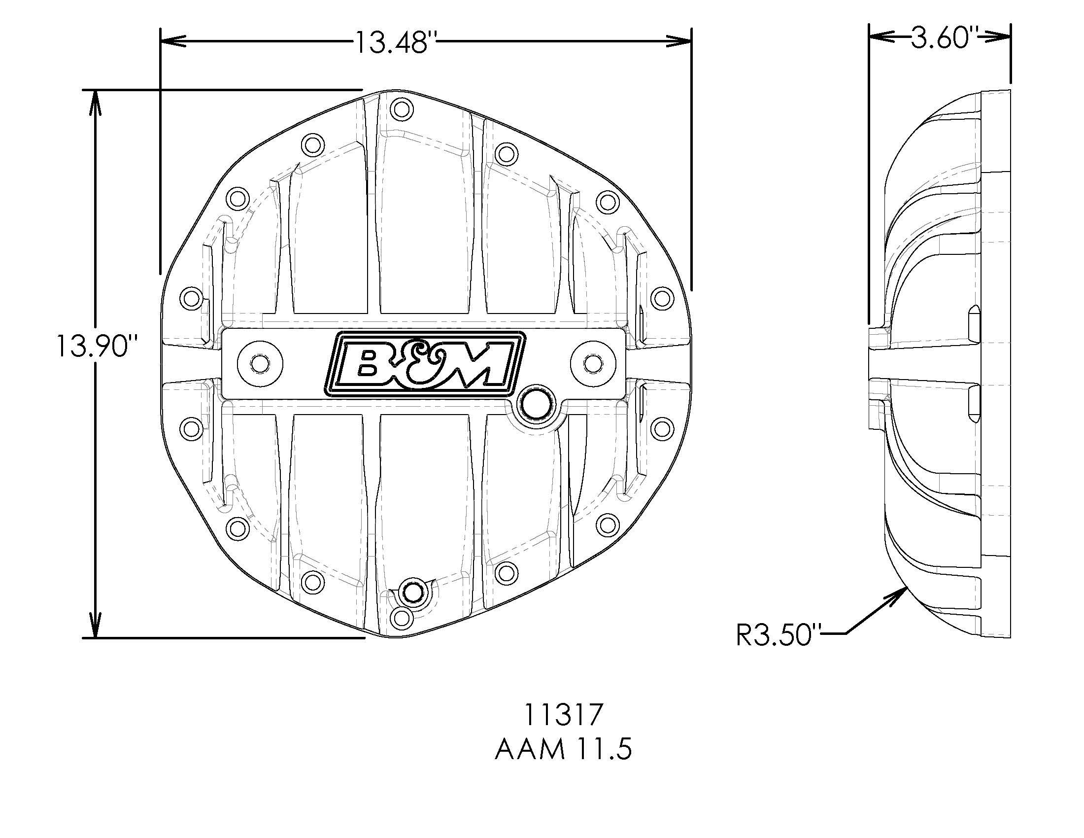 B/&M 11317 Differential Cover