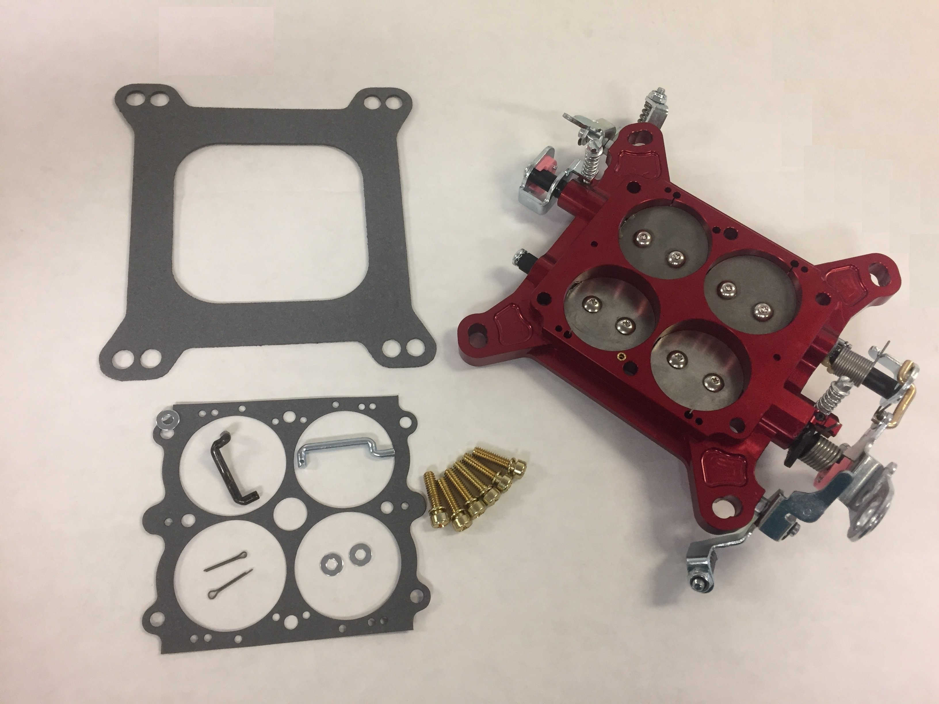"""Quick Fuel 12-850QFT Billet Throttle Body Assembly 1 3//4/"""" Red with Stainless ..."""