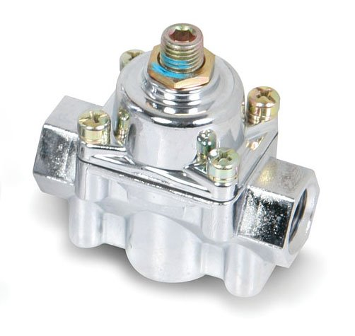 holley 12 803 chrome carbureted fuel pressure regulator
