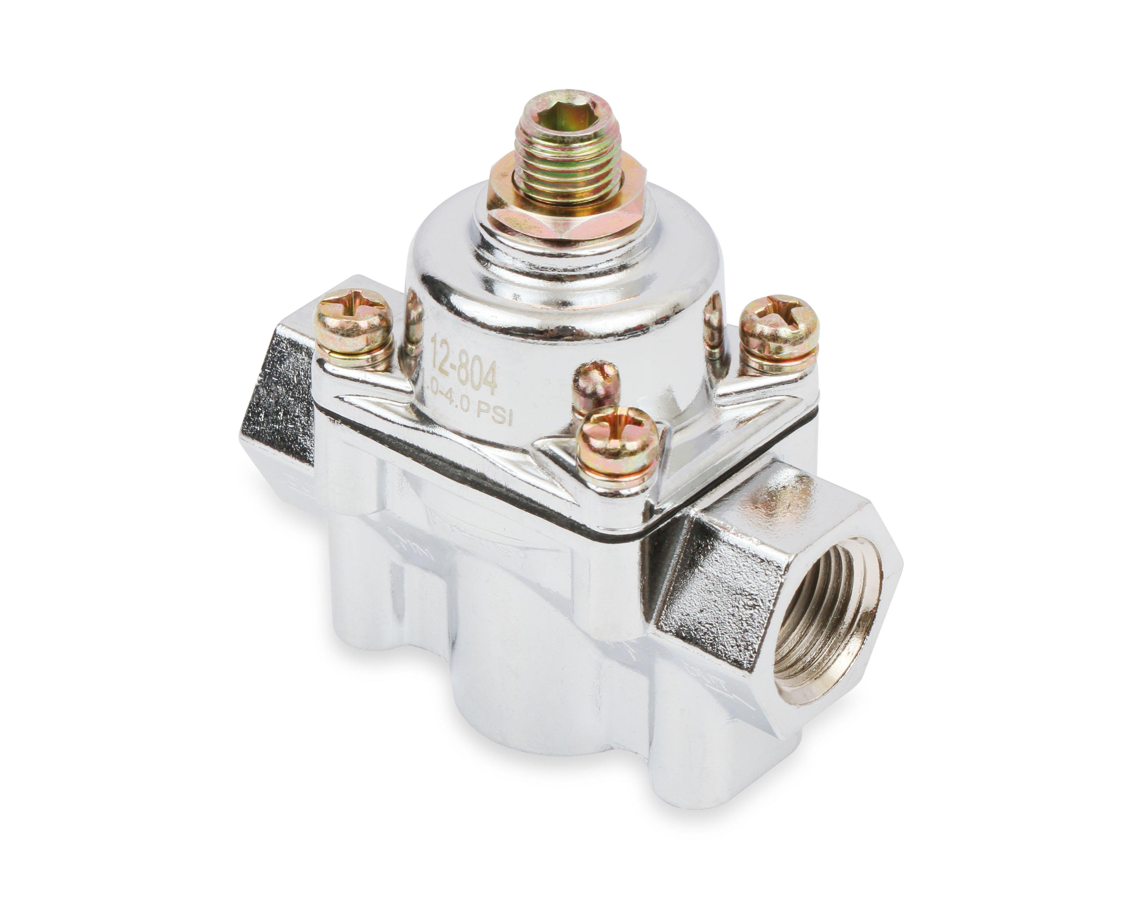 Holley 12-804 Chrome Carbureted Fuel Pressure Regulator