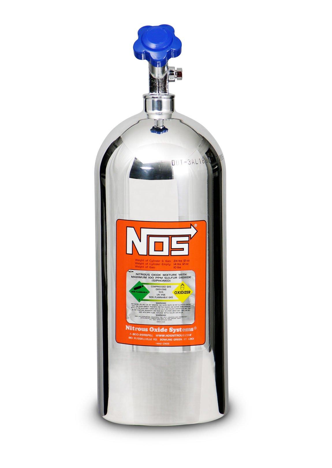 nos 14745 pnos 10 lb polished nitrous bottle. Black Bedroom Furniture Sets. Home Design Ideas