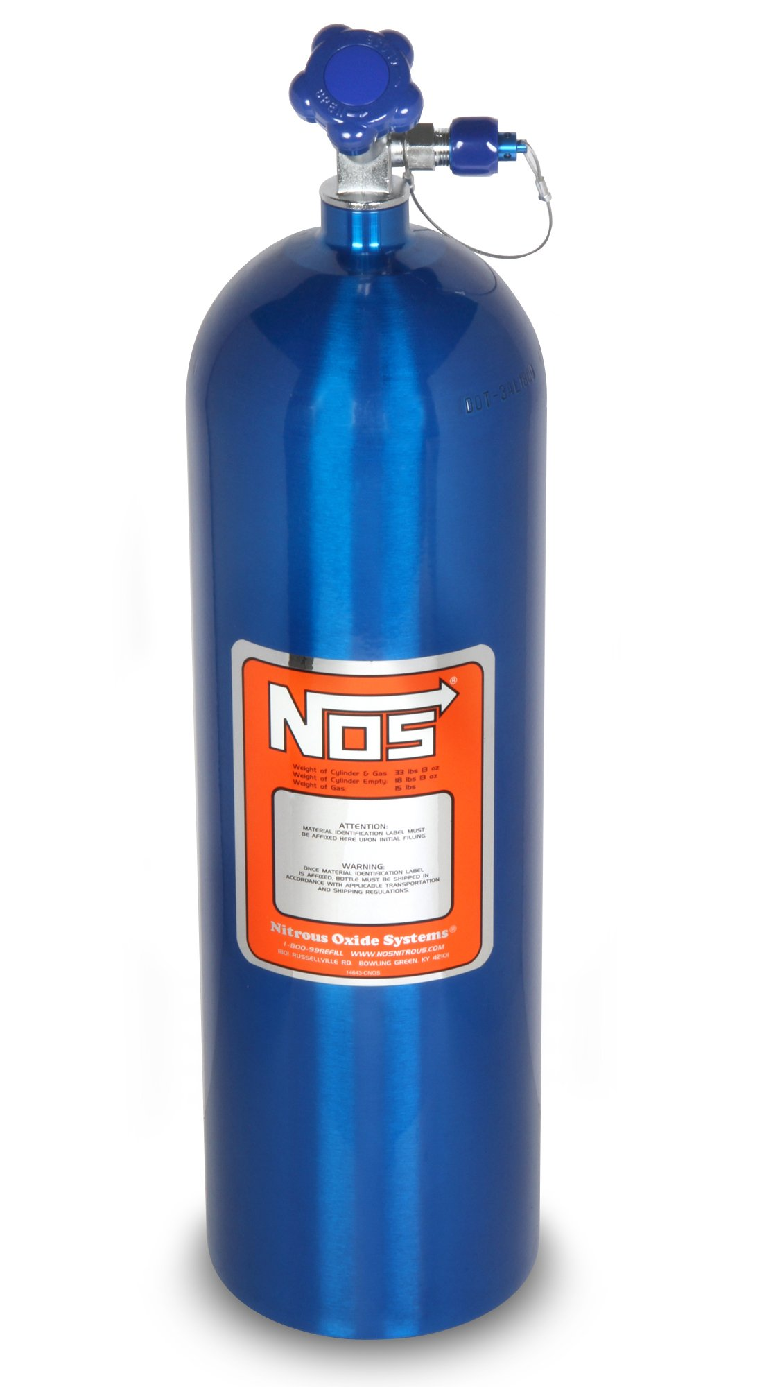 nos 14750 zr1nos 15 lb electric blue nitrous bottle. Black Bedroom Furniture Sets. Home Design Ideas