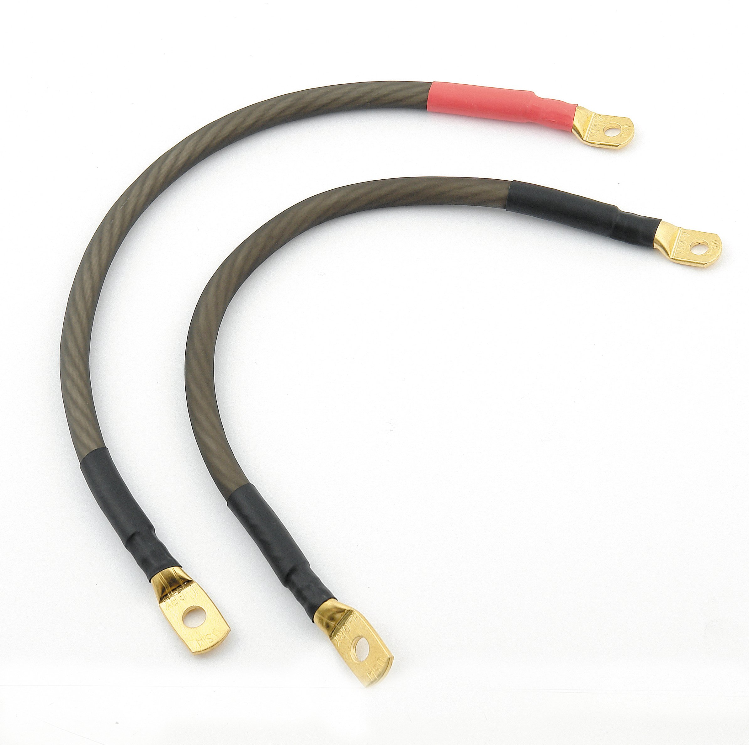 Parts Of Electrical Cables : Accel motorcycle battery cable set gold flt