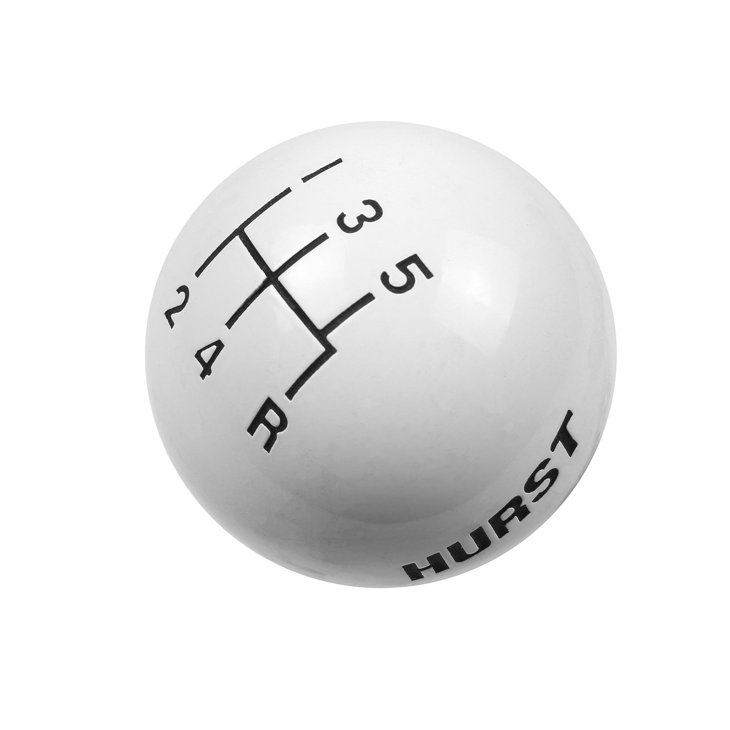 Hurst 1630025 White 5-Speed Replacement Shifter Knob