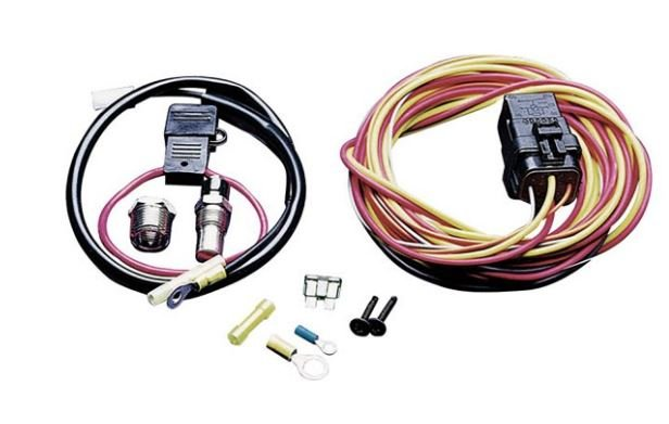 195fh - spal electric fan wiring harness kit image