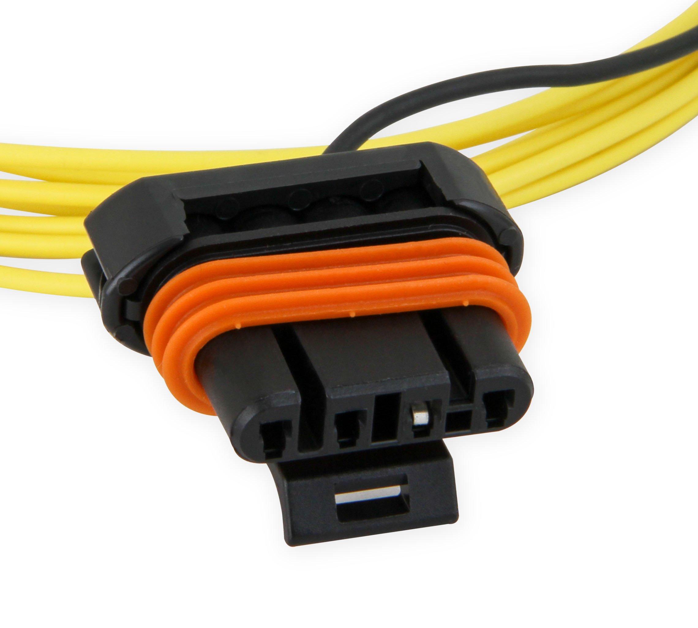gm 4 wire alternator wiring diagram holley 197 400 gm 4 pin alternator plug pigtail  holley 197 400 gm 4 pin alternator plug