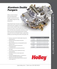 Holley Aluminum carbs flyer