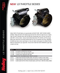 New Throttle Bodies 2013