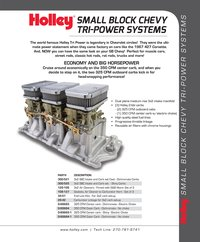Chevy Tri-Power Systems