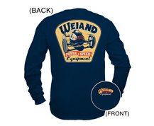 Weiand Retro Navy Blue Long Sleeve T-Shirt