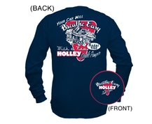Holley DP Retro Navy Blue Long Sleeve T-Shirt