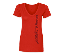 Ladies Holley LS Fest V-Necks
