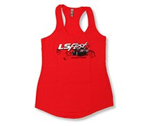 Ladies Red LS Fest Tank Las Vegas Nevada
