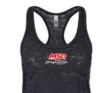 MSD Racing Ladies Burnout Racer Back Tshirt
