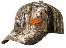 MSD Camo Baseball Cap Orange Logo