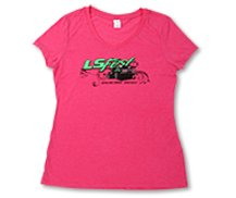 Ladies Hot Pink V-Neck Tee