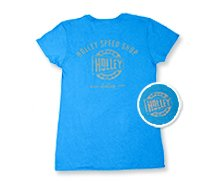 Holley Speed Shop Blue Ladies Tee