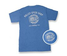 Holley Speed Shop Denim Blue T-Shirt - MensBlueSHopTruck_nav.jpg