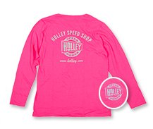 Holley Speed Shop Long Sleeve Pink Tee