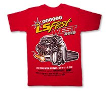 2018 Holley LS Fest West Red Engine Event Tee