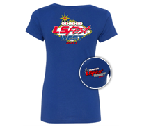 2017 LS Fest West Ladies Royal Heather V Neck Tee
