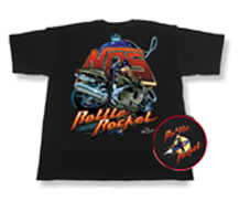 NOS Bottle Rocket Bike Black T-Shirt