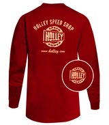 Holley Speed Shop Long Sleeve Red Tee - red_ls.jpg