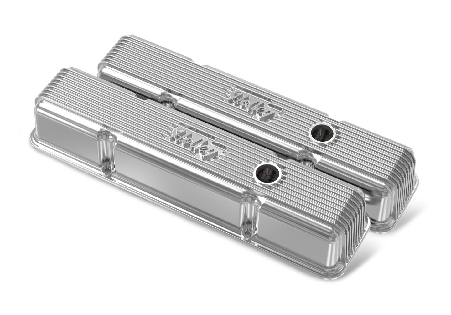 SBC Vintage Series Finned Valve Covers - Polished Finish