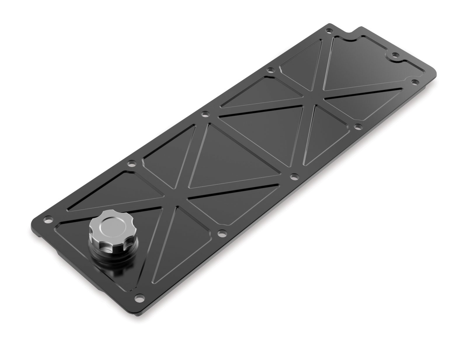 Holley LS Valley Cover with Oil Fill - Black Billet