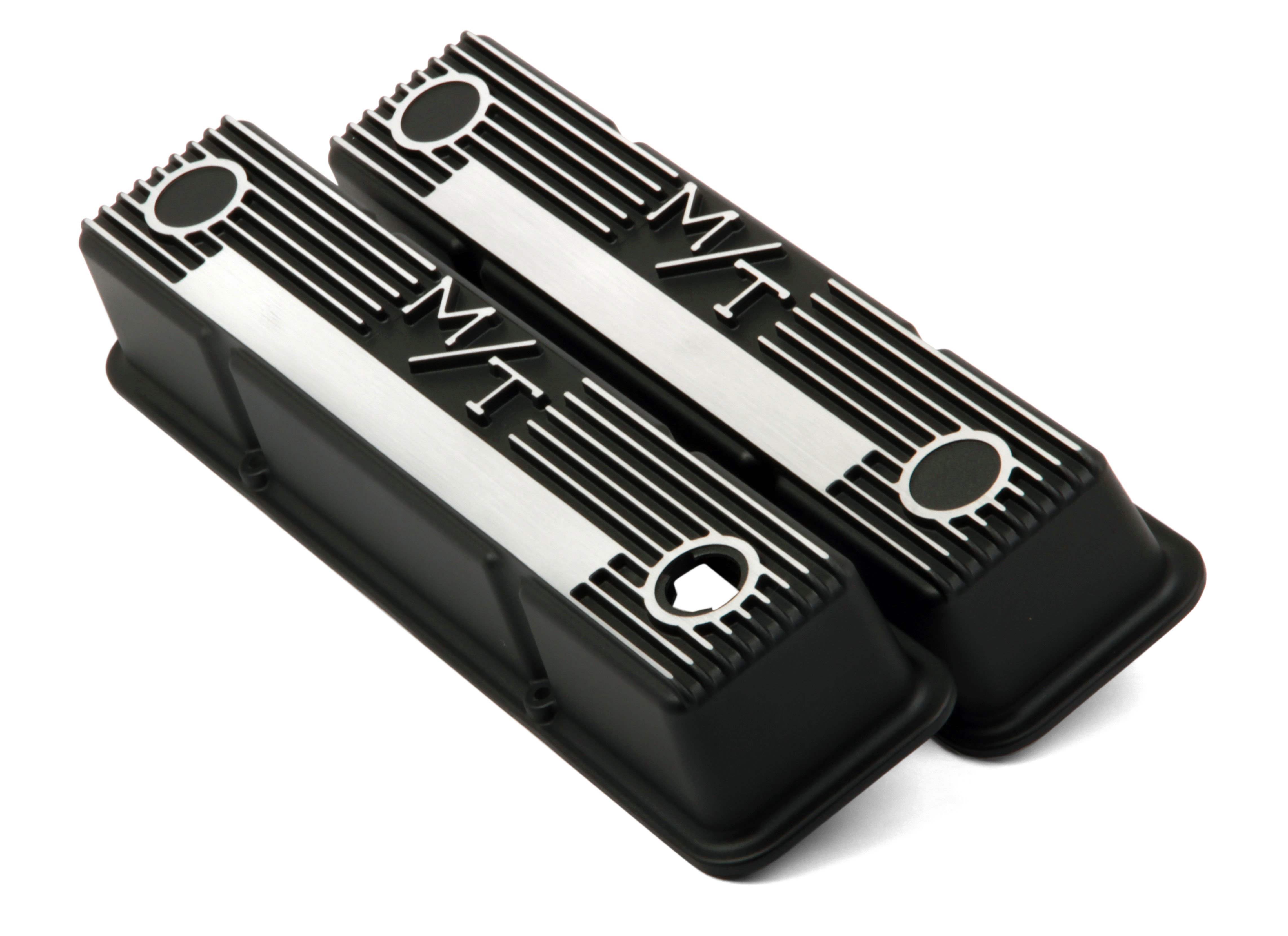 M/T Valve Covers for Small Block Chevy Engines - Satin Black
