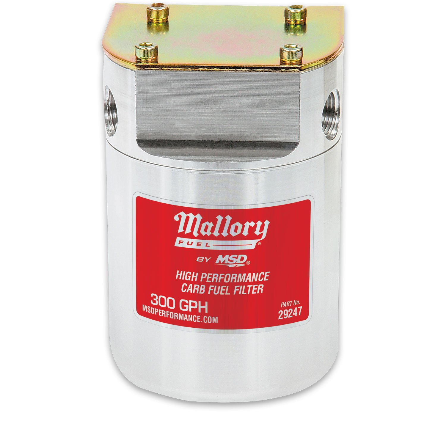 29247 - Mallory Low Pressure Carbureted Fuel Filter Image