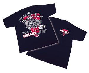 10010-LGHOL - Navy Blue Holley DP Retro T-Shirt (Large)