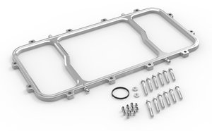 12535NOS - NOS Dry Nitrous Spacer Plate for Holley LS Hi-Ram EFI Intake Manifolds-Silver