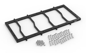 12536BNOS - NOS Dry Nitrous Spacer Plate for Sniper EFI Fabricated Race Series LS Intake Manifolds-Black