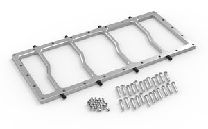 12536NOS - NOS Dry Nitrous Spacer Plate for Sniper EFI Fabricated Race Series LS Intake Manifolds-Silver