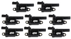 140080-8 - Accel Gen V GM Coils, 2014 and Up, Black, Round - 8 Pack