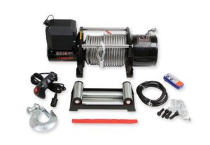 17001AOR - Anvil - 17,000 Lbs Winch w/ Metal Cable & Roller Fairlead