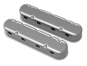 241-180 - 2-Pc LS Finned Valve Covers – Natural Finish