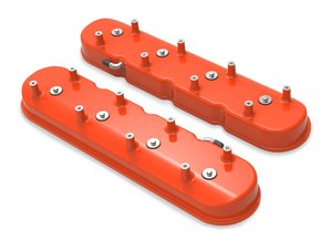 241-99 - Tall LS Valve Covers for Dry Sump Applications - Factory Orange