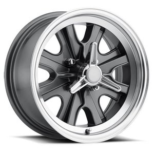 LW90-70754B - Legendary Wheels HB45 - 17 x 7 in. -  5 x 4.5 - 4.25 BS - Charcoal/Machined