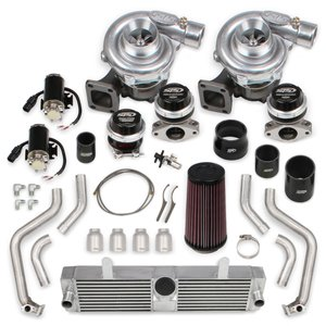 STS2002 - STS Turbo Rear Mounted Twin Turbo System without tuner & fuel injectors (Standard Kit)