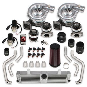 STS2003T - STS Turbo Rear Mounted Twin Turbo System with tuner & fuel injectors (Tuning Kit)