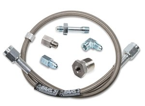 "VK040010 - Gauge Hose Kit - Stainless Steel with Adapters - 38"" Hose"