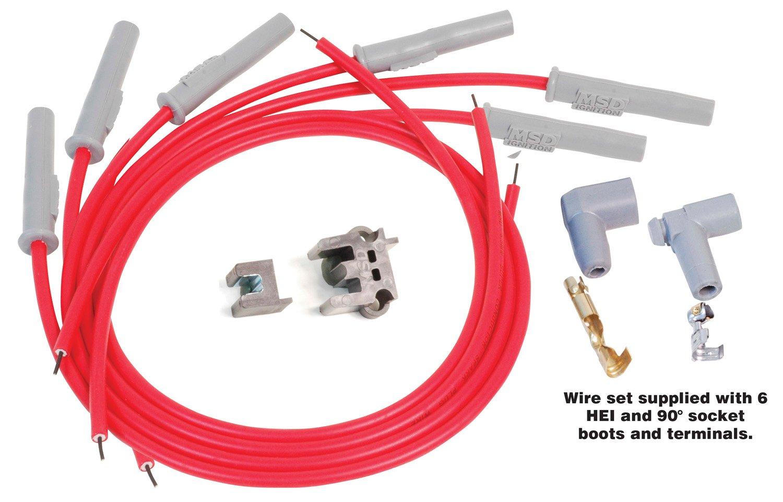 31179 - Super Conductor Spark Plug Wire Set, Multi-Angle Plug, Socket/HEI Image
