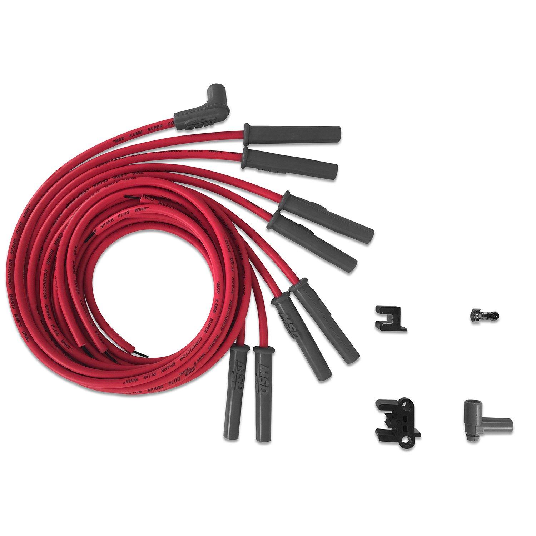 31189 - Super Conductor Spark Plug Wire Set, Multi-Angle Plug, HEI Cap Image
